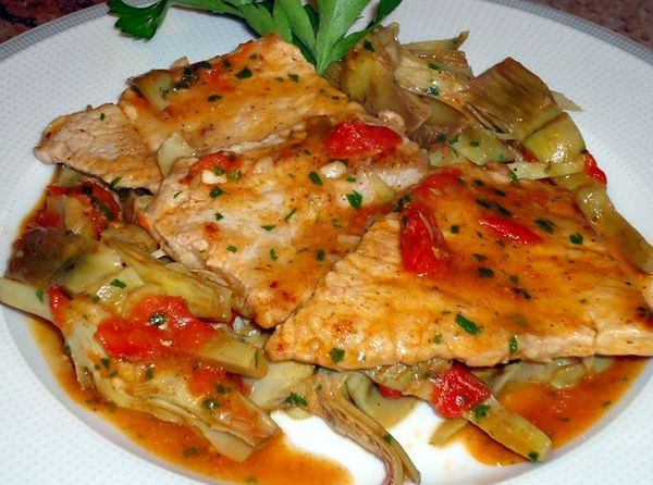 Kalbsschnitzel-mit-Artischocken