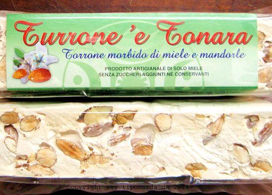 Torrone mit Mandeln Sardinien