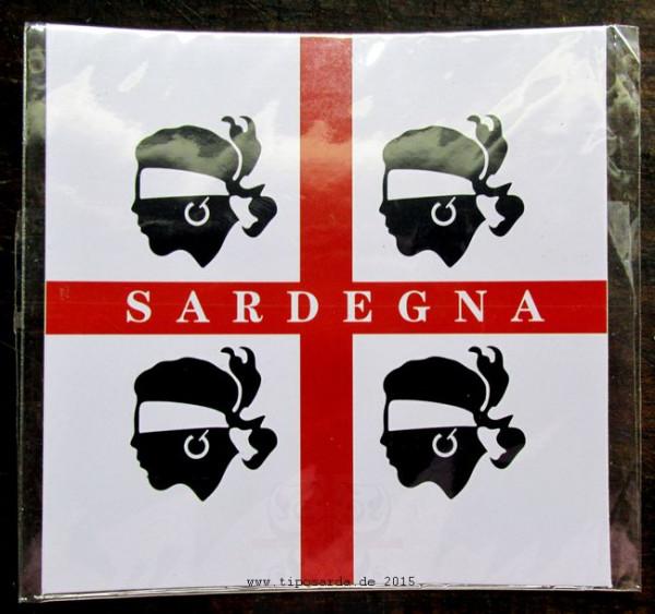 Sardinien Aufkleber groß