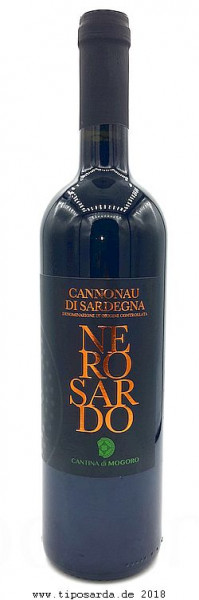 Nero sardo Cannonau DOC 2016 tiposarda