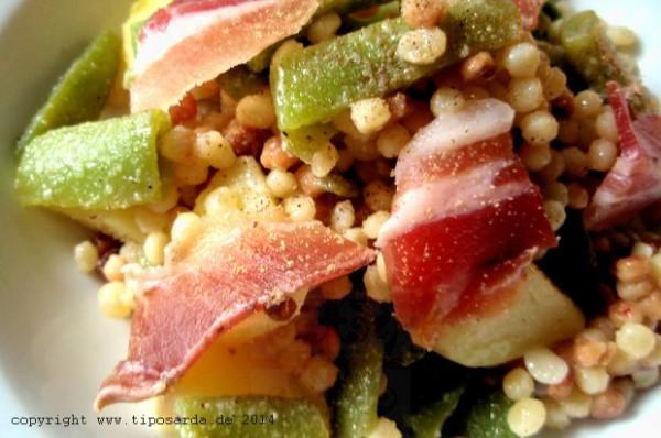 Fregola-Bohnen-Salat
