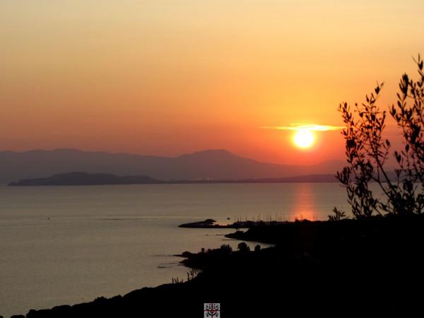 Sonnenuntergang Golf von Cagliari