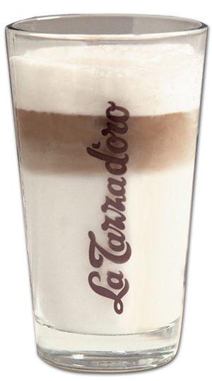 Latte Macchiato Glas La Tazza d'oro