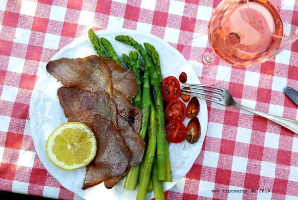 Carpaccio-Thunfisch-Spargel