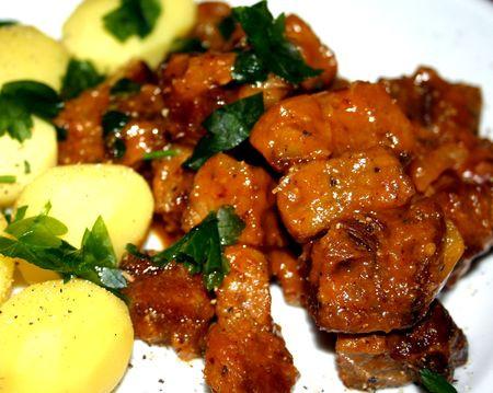 Wildschwein-in-Orangensauce
